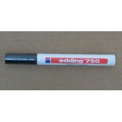 Rotulador EDDING 750 Negro, trazo de 2-4 mm